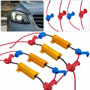 Details about 4X LED Indicator Ballast Load Resistor Flash Rate Relay Turn  Signal Bulbs 50W 6Ω