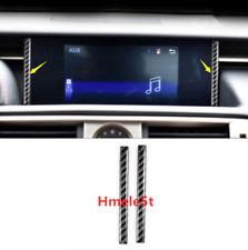 2PCS Carbon Fiber GPS Navigation Strip Trim Fit For LEXUS IS200T//250//350 2014-18