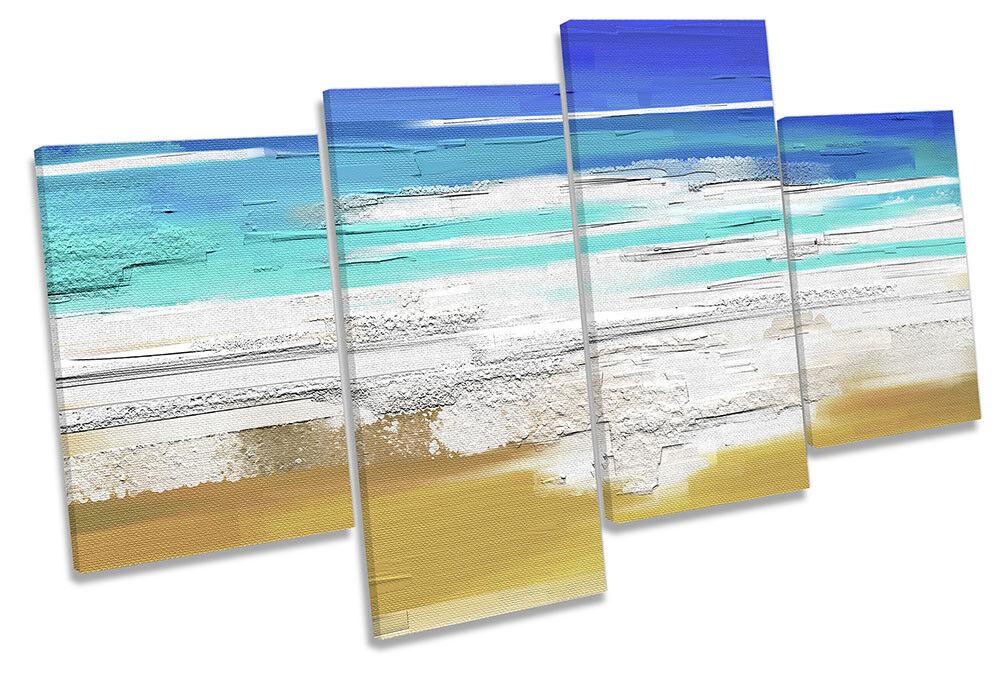 blu FLORA Beach Surf Surf Surf REPRO Multi a muro opera d'arte art print ca5b46