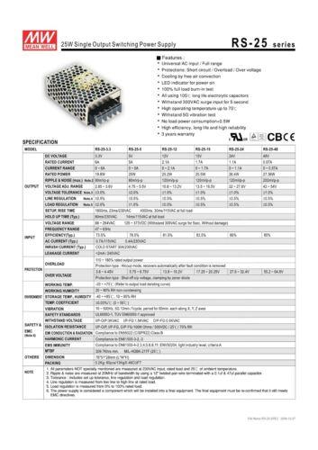 Equipement électrique, d'essai Mean Well rs-25-5 ...