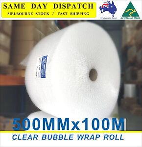 500mm-x-100M-Bubble-Wrap-Roll-P10-10mm-Bubbles-Clear-BubbleWrap-NEW-100meter