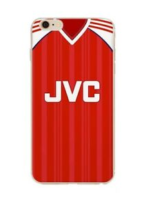 beea1619878 Arsenal Style Retro Kit Shirt Hard iPhone 5 SE 6 6s 7 8 X XS Phone ...