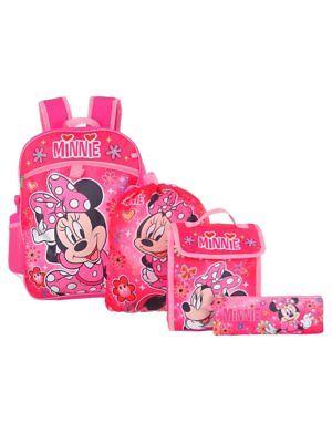 Just Minnie Mouse Fille 40.6cm Sac à Dos Et Rentrée Scolaire Essentials 5 Pièces To Enjoy High Reputation In The International Market Boys' Accessories