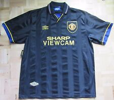 MANCHESTER UNITED away shirt jersey UMBRO 1993-95 Cantona Kung-Fu adult size XL