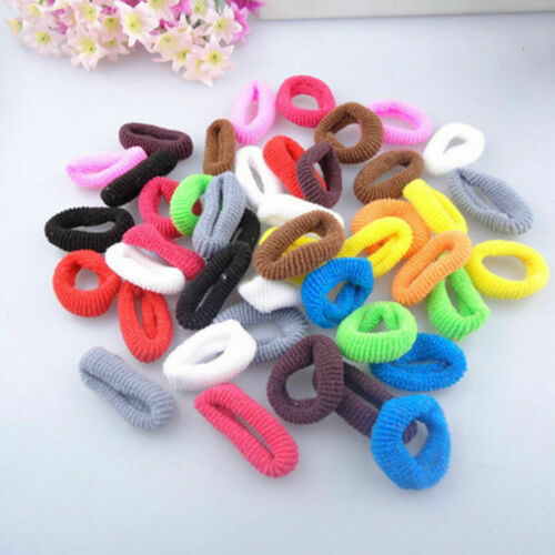 100PCS Kids Girl Elastic Rubber Hair Band Ponytail Holder Head Rope Ties Jewelry