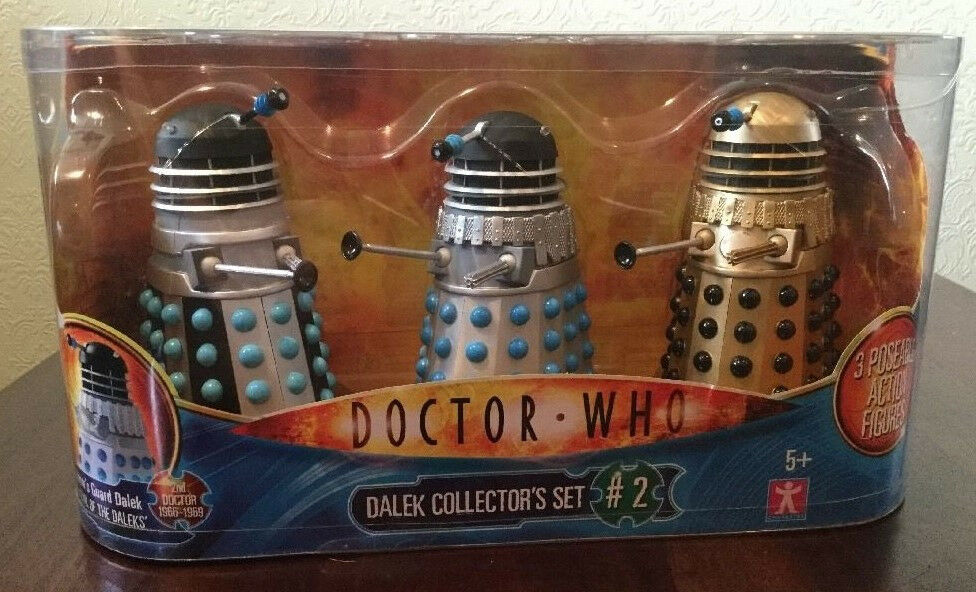 Dr Who Dalek Collector's Set 2 NEW Saucer, Emperor's Guard & Supreme - 3 Daleks