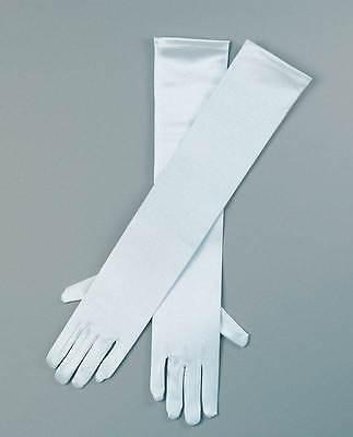 """19"""" Guanti In Raso Bianco, Costume Accessorio, Vestiti, Festa-mostra Il Titolo Originale Ultima Tecnologia"""