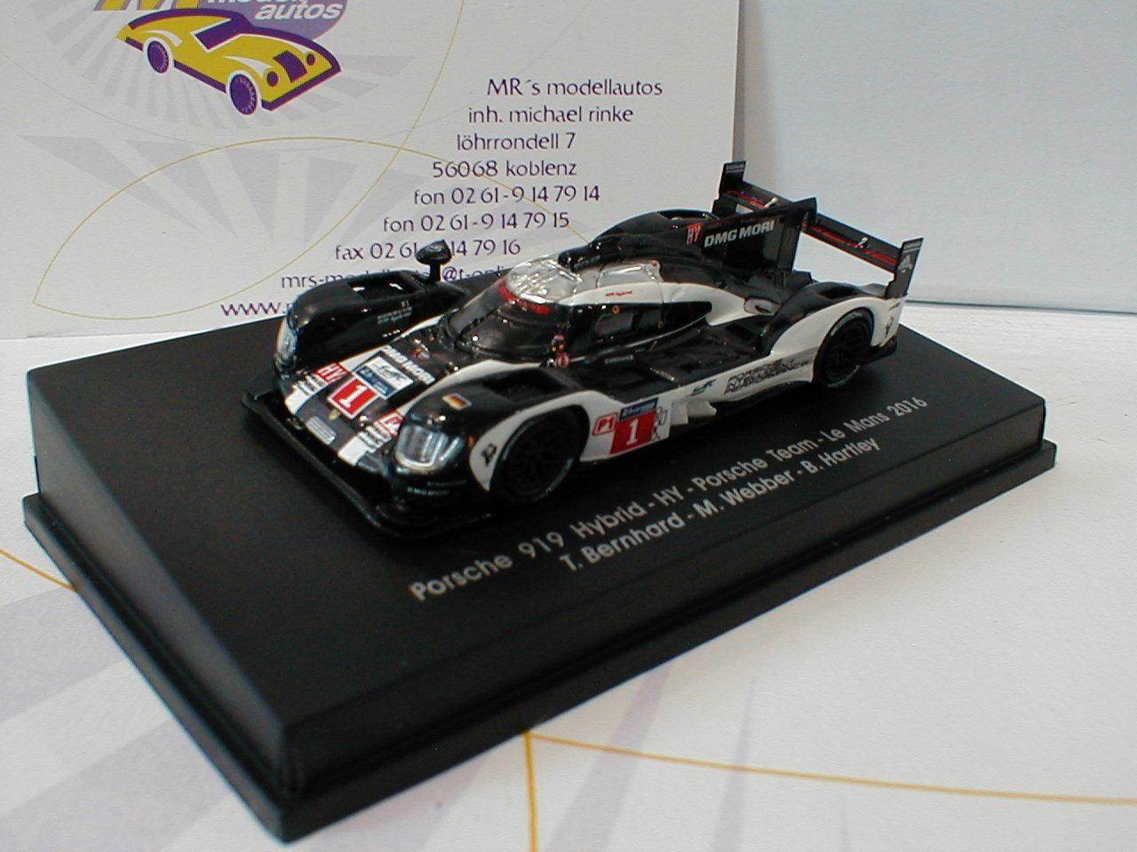 Spark 87S139 -Porsche 919 Hybrid No.1 Le Mans 2016 Bernhard,Webber,Hartley 1 87
