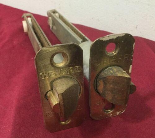 Set of 2 Locksmith 5 inch residential Weiser brand Brass lockset Deadlatches