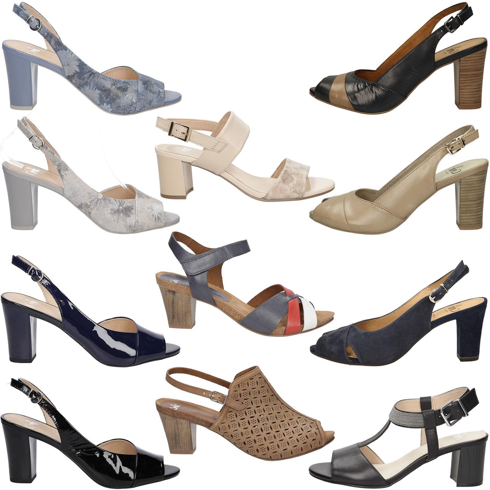 Damen Sandaletten Caprice Blockabsatz Echtleder Sommer Schnalle Gr. 36-42 36-42 Gr. NEU 1e1a0d