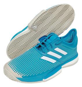6307ae2224c adidas Sole Court Boost Clay Men's Tennis Shoes Blue Racket Racquet ...