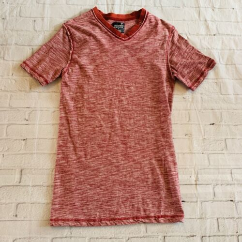 Modern Culture Mens V Neck T- Shirt Red And White