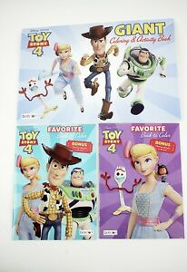 3-TOY-STORY-4-Coloring-amp-Activity-Books-Including-GIANT-Book-Woody-Buzz-Bo-Peep