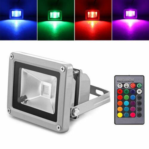 10W 20W 30W 50W LED RGB Fluter Flutlicht Strahler Außen Scheinwerfer IP65 SMD