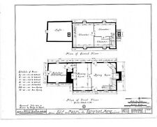 Gambrel roof Colonial cottage plan, clapboard siding, stone foundations, charm