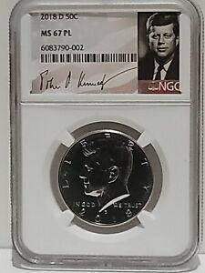 2020 D Kennedy Half Dollar 50c NGC MS 67