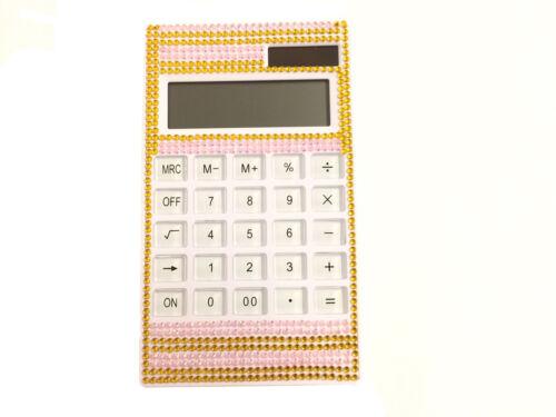 blingustyle Bling bling Crystal Diamante 12 Digit Dual Power Calculator GP