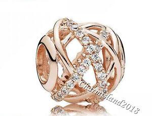 Authentic-Pandora-Charm-781388-Rose-Gold-Sparkling-Galaxy-Clear-CZ-Bead-GZ