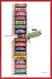 treats fruit Lifesavers Sweets Fishing Advert Vintage Retro Style Metal Sign