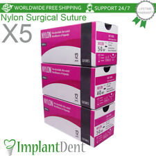 5 Dental Non Absorbable Monofilament Surgical Nylon Suture Implant Surgery