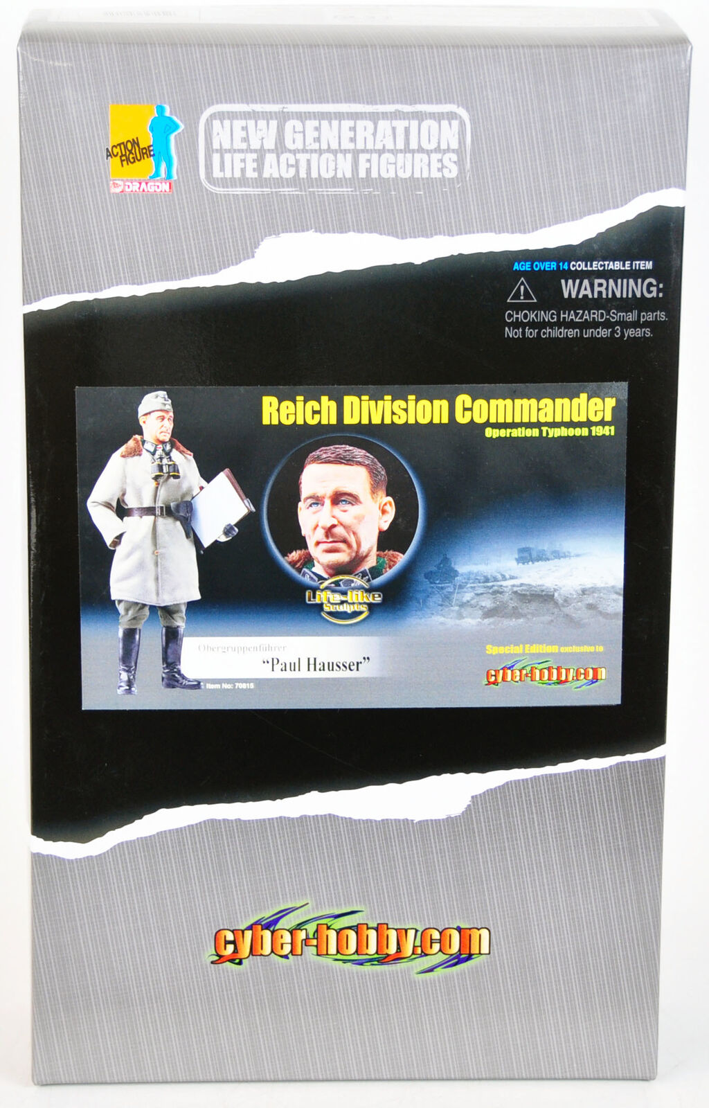 Dragon WWII Paul Hausser Reich Division Commander Figure Operation Typhoon 1941