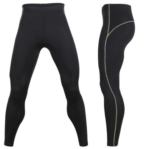 Men/'s Thermal Underwear Pants Fleece Lined Base Layer Long Johns Leggings Black