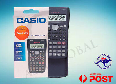 CASIO SCIENTIFIC CALCULATOR FX82 FX-82MS FX-82 GENUINE  BRAND NEW FAST POSTAGE