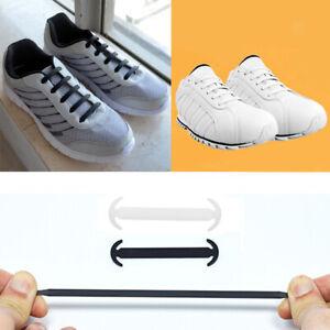 Détails sur 14x Lacets élastiques Sans Lacets Chaussures En Silicone Baskets