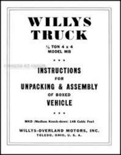Mâchoires De Frein Willys Overland jeep MB de 1941-45 Frein Revêtements de la construction du Revêtement