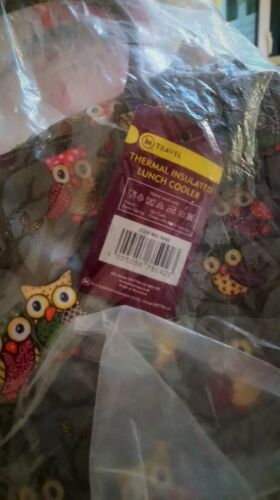 inTravel Thermal Insulated Lunch Cooler Owl Design for School//Work//Gift BNWT