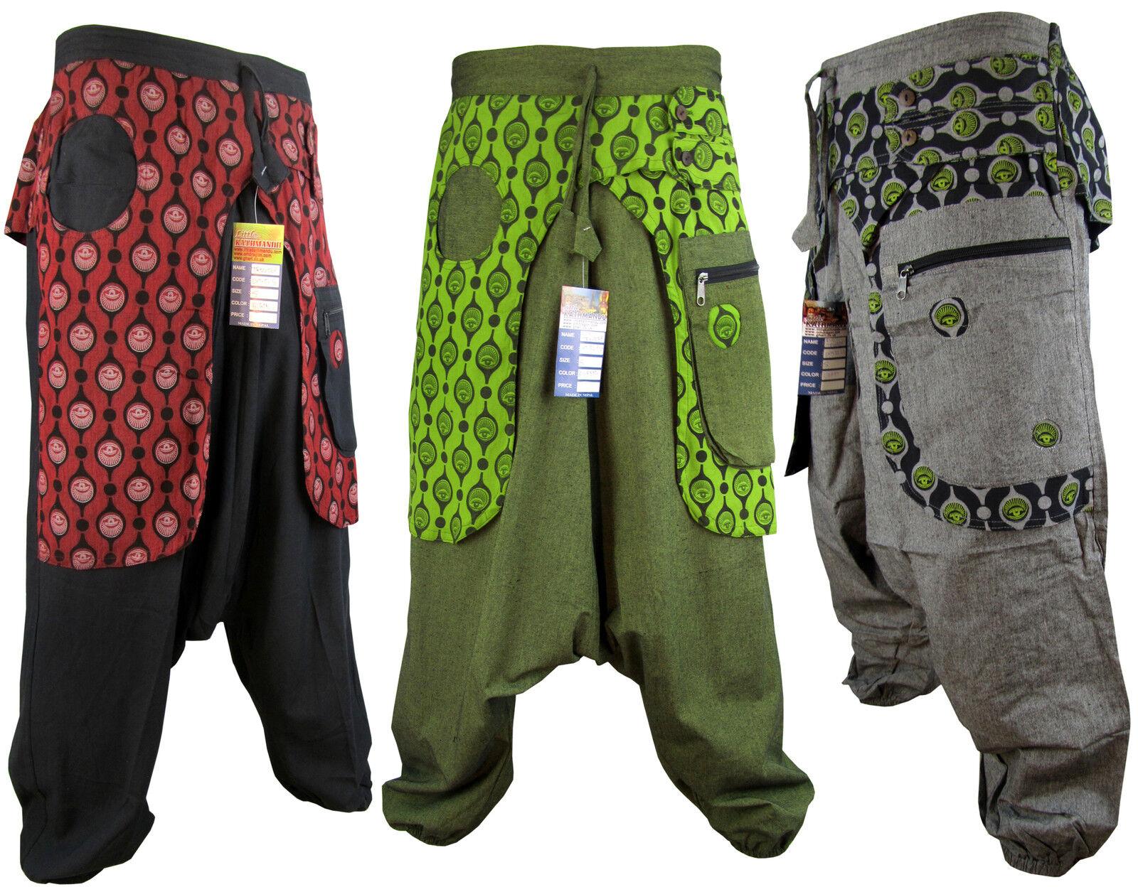 Hippie Boho harem aladdin trouser baggie ali baba pants retro vintage hippy