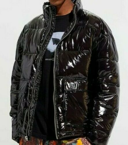 Men/'s UO-URBAN OUTFITTERS Nocturne Shiny Nylon Puffer Jacket *SMALL*