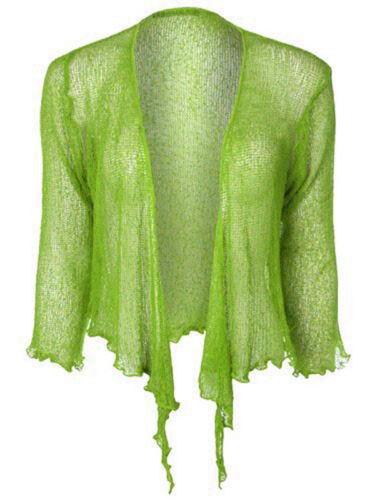 JUSTYOUROUTFIT Women/'s Knotted Tie-Up Shrug knit cardigan One size Fits UK 8-12