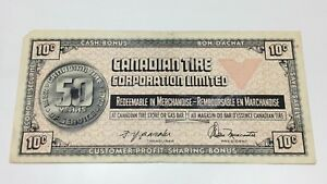 1972-Canadian-Tire-10-Ten-Cents-CTC-S2C-Circulated-Money-50-Years-Banknote-E064