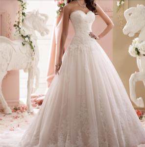 New White/Ivory Lace Wedding Dress Sweetheart Strapless Drop Waist ...