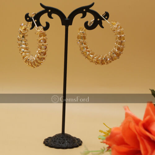 New Indian Pakistani Bollywood Gold Dangle Jhumka Earrings Bali Jhumki Jewellery