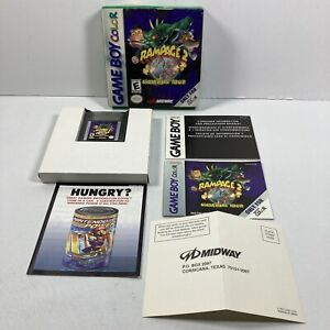 Rampage 2: Universal Tour (Nintendo Game Boy Color, 1999) CIB Complete Tested!