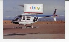 SFO HELICOPTER AIRLINES BELL 206B 3 JET RANGER AT OAKLAND AIRPORT POSTCARD