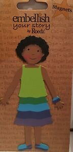 NIP Embellish Your Story Ashley Kid Magnet By Roeda Girl Green Blue Dress