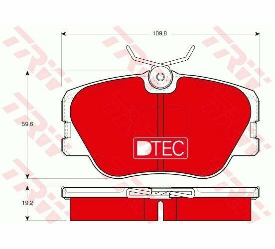 TRW Brake Pad Set, disc brake DTEC COTEC GDB818DTE