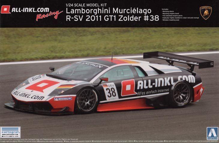 KIT AOSHIMA 1 24 AUTO LAMBORGHINI MURCIELAGO R-SV 2011 GT1 ZOLTER  38     007181