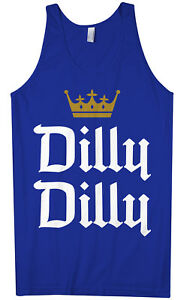 1a6f38f9e99dc3 Dilly Dilly Men s Tank Top Funny Beer Commercial Pit of Misery ...