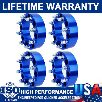 "2PC  2/""  8X6.5 To 8X6.5  Wheel Spacers For Chevy DullyTruck 1 Ton 3//4 Ton 14x1.5"