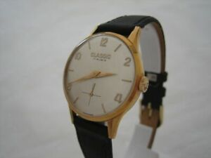 NOS-NEW-VINTAGE-SWISS-MECHANICAL-HAND-WINDING-ANALOG-WOMEN-039-S-CLASSIC-WATCH-28MM