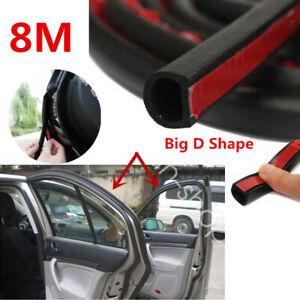 Universal 8M Car D Shape Rubber Seal Weather Strip Door Edge Moulding Trim