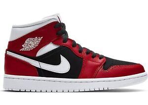 Retorcido Lágrimas Folleto  Zapatos Niños Mujer Nike Air Jordan 1 Medio Rojo Negro Deporte BQ6472-601  Basket | eBay