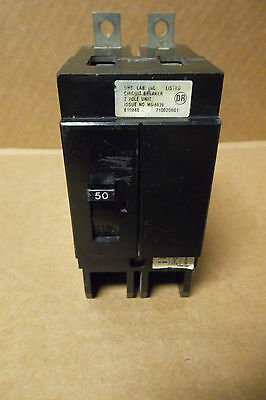 SQUARE D QO QO250 2 POLE 50 AMP CIRCUIT BREAKER BLACK extended stab in