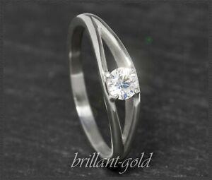 Diamant-Solitaer-585-Gold-Ring-Brillant-mit-0-24-ct-VVS1-Damen-Verlobungsring