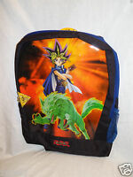 With Tags 1996 Vintage Yu-gi-oh Blue Backpack 11 X 15