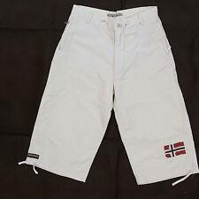 Napapijri Geographic Light Beige 3/4 Shorts Nylon & Cotton Boys Size 12 Years